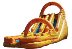18FT Fire & Ice Double Lane Water Slide  (32x14x18)