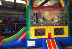 Western Theme Bouncer W/Slide (22x13x15)