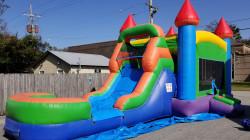 20210131 133832 1612215010 Rainbow Castle Bounce House / Single Slide Combo