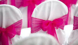 Chair Cover - Pink Bow