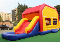 XL Bounce House With Slide And Art Panel