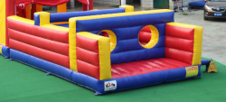56' Obstacle Course With Slide and Art Panel