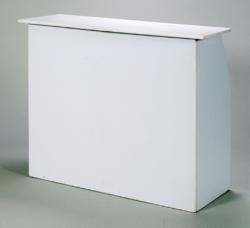 4' White Portable Bar