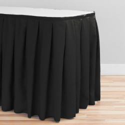 17 ft. Accordion Pleat Polyester Table Skirt