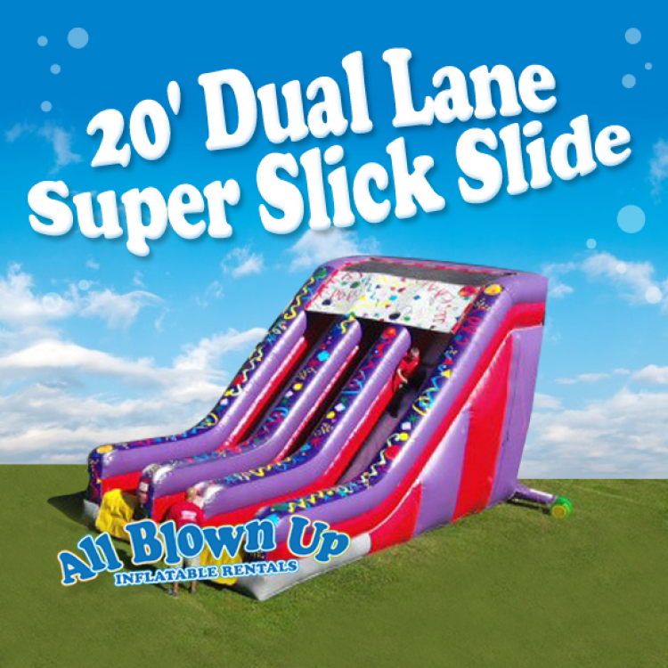20' Dual Lane Super Slick Slide