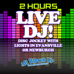 2 Hour DJ Service with Lights Evansville / Newburgh