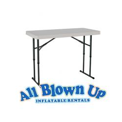 4' White Table