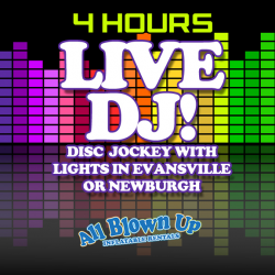 4 hour DJ Service with Lights Evansville / Newburgh
