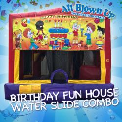 Birthday Fun House Water Slide Combo