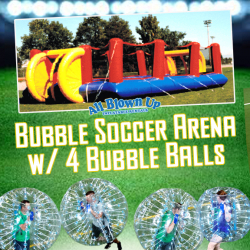 Bubble Soccer Arena w/ 4 Bubble Balls