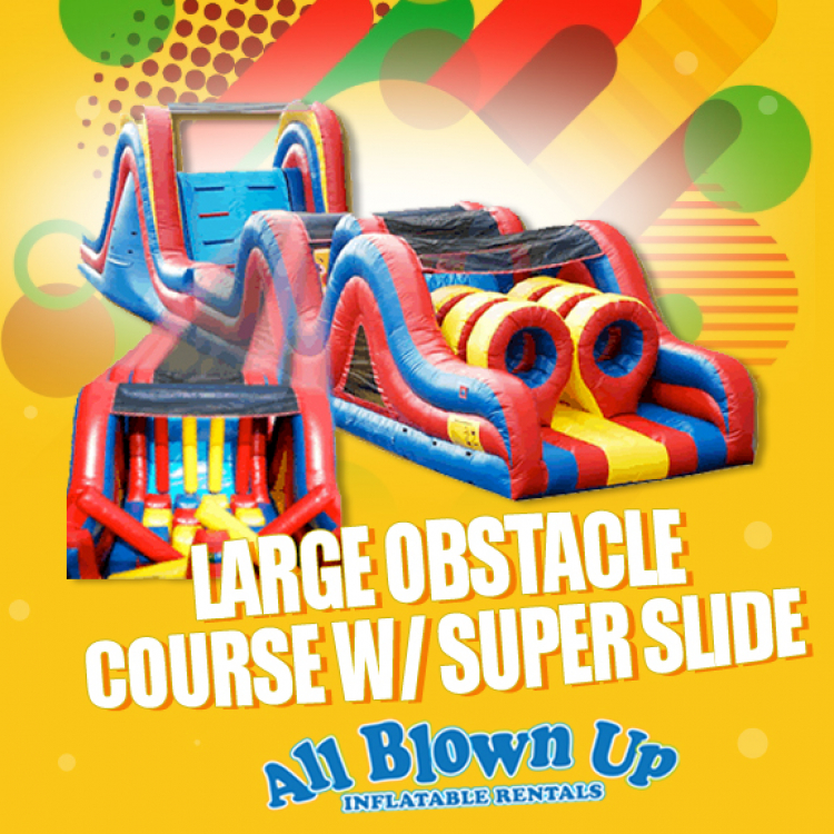 Large Obstacle Course with Super Slide