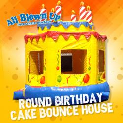 Round Birthday Cake Bounce House
