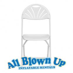 White Fan Back Chair