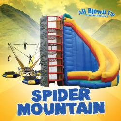 *A. Rock Wall, Spider Climb with Slide & Bungee Trampoline