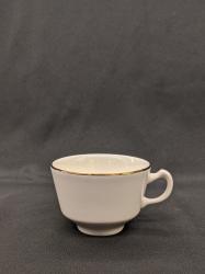 Coffee Cup Cream W/Gold trim