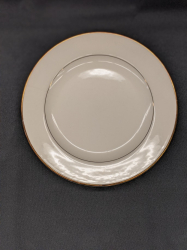 Dinner Plate Cream w/Gold trim