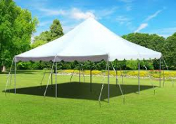 20'x20' White Pole Tent (40 people)