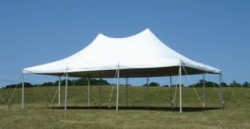 20'x30' White Pole Tent (60 people)