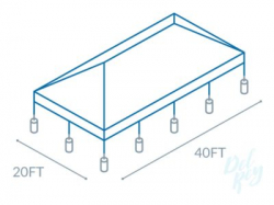 20x40  Frame Tent (80 people)