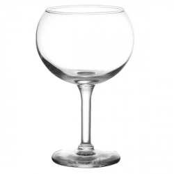 WINE RED 12 1/2 LG BOWL GLASS