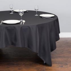 85 x 85 Square Linen - Black