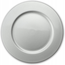 13 Round Silver Acrylic Charger Plates