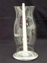 HURRICANE LAMP 12 HIGH W/BASE