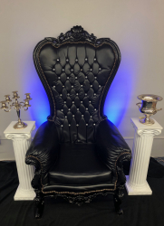 Large Black Throne Chair