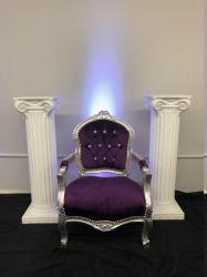 Purple Small Throne Chair