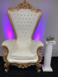 Gold Throne Chair