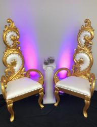 Medium Gold Throne Chair