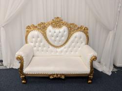 Gold Loveseat Throne