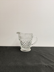 CREAMER GLASS ETCHED