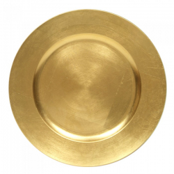 Charger Plate Acrylic Gold 13