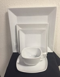 SQUARE COFFEE CUP WHITE