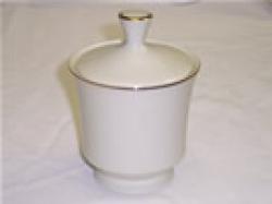 Sugar Bowl Cream W/Gold trim