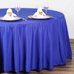 108 Round Cadet Blue Linen