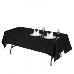 60 x 126 Linen - Black