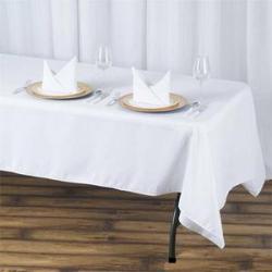 60 x 126 Linen - White