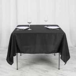 71 x 71 Square Linen - Black
