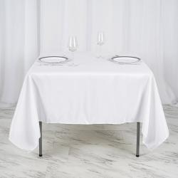 71 x 71 Square Linen - White