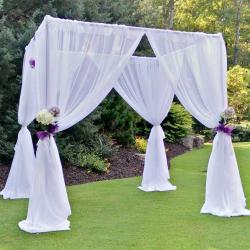 Arch/Chuppa Bridal Sheer White