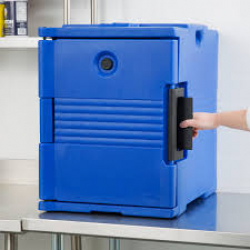 CAMBRO CARRIER HOLDS 4 PANS BLUE