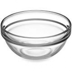 CONDIMENT BOWL 3oz CLEAR GLASS