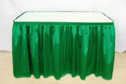 SKIRT GREEN 13'X29 ( 48RD,6FT, 8FT OR SERP.)