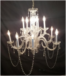 Candlelight Crystal Chandelier