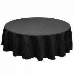120 Round Linen - Black