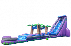38' Purple Rain Water Slide