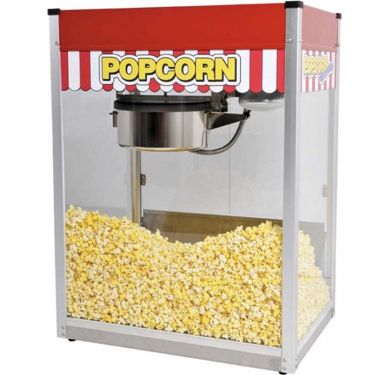 Popcorn Machine w/30 Servings: Self Service