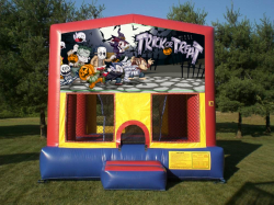 Halloween Characters Deluxe Themed Bounce House Combo